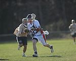 Ole MIss' Jake Kronshage (15) vs. Georgia Tech's Danny Radke (7) in lacrosse at the Ole Miss Intramural Fields in Oxford, Miss. on Saturday, February 2, 2013. Georgia Tech won 8-5.