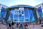 Dallas Cowboys defensive back J.J. Wilcox (27), Dallas Cowboys defensive back Brandon Underwood (23) and Dallas Cowboys defensive back Xavier Brewer (33) in action during the pre- season game between the Houston Texans and the Dallas Cowboys at the AT & T stadium in Arlington, Texas.