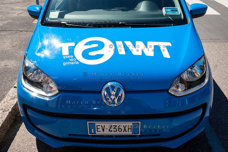 Milano, una Volkswagen Up! del servizio di car sharing Twist --- Milan, a Volkswagen Up! of Twist car sharing