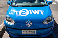 Milano, una Volkswagen Up! del servizio di car sharing Twist --- Milan, a Volkswagen Up! of Twist car sharing