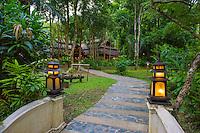 Thailand, Mae Hong Son. Fern Resort. Gardens.