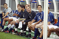 USMNT bench. The USA lost 3-1 against Poland in the FIFA World Cup 2002 in Korea on June 14, 2002.