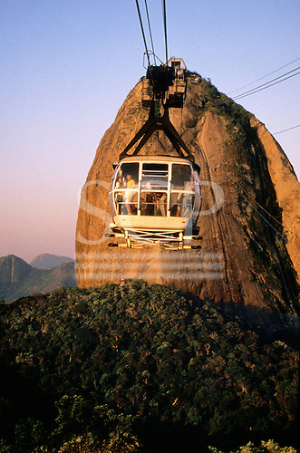 Rio de Janeiro, Brazil. Cable car to the Sugarloaf (Pao de Acucar).