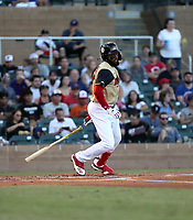 Jo Adell plays in the annual Arizona Fall League Fall Stars Game at Salt River Fields on October, 12, 2019 in Scottsdale, Arizona (Bill Mitchell)
