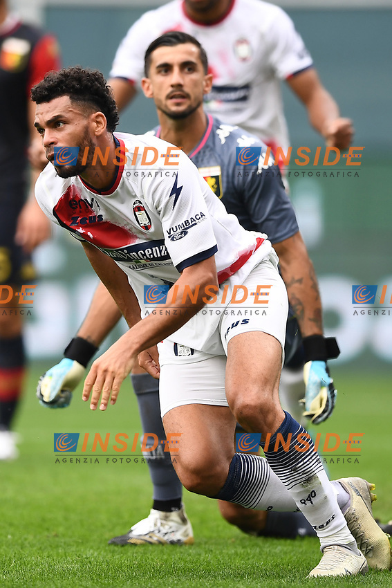 esultanza gol Emmanuel Riviere <br /> Serie A football match between Genoa CFC and FC Crotone at Marassi Stadium in Genova (Italy), September 20th, 2020. Photo Image Sport / Insidefoto