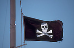 Pirate flag, History of the Spanish Main, Central America, Caribbean Sea, British Virgin Islands, Pirate history, Tortola Island, Virgin Island Archipelago, Greater Antilles, West Indies, Caribbean Sea,