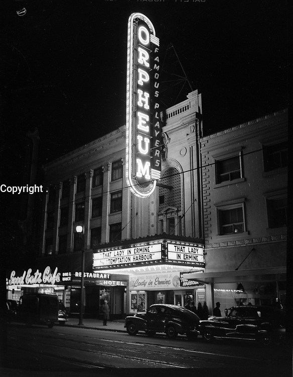Orpheum cinema, neon sign