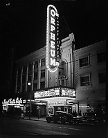 Orpheum cinema, neon sign