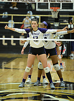 Fayetteville's Tuesday, Sept. 15, 2020, Bentonville's during play in Tiger Arena in Bentonville. Visit nwaonline.com/200916Daily/ for today's photo gallery. <br /> (NWA Democrat-Gazette/Andy Shupe)