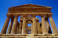 Temple of Hercules in the Valley of Temples, Agrigento, Sicily, Italy
