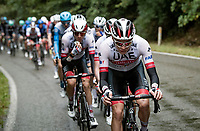 Team UAE-Emirates controlling the peloton for their favourite Pogačar<br /> <br /> 84th La Flèche Wallonne 2020 (1.UWT)<br /> 1 day race from Herve to Mur de Huy (202km/BEL)<br /> <br /> ©kramon