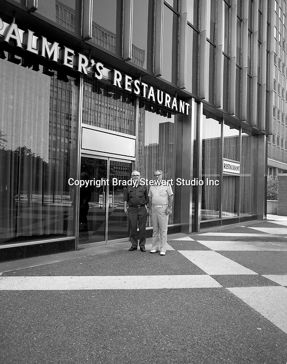 Pittsburgh PA:  View of the exterior of Palmer's Restaurant at Four Gateway Center.