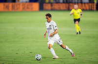 CARSON, CA - SEPTEMBER 06: Ethan Zubak #29 of the Los Angeles Galaxy moves with the ball during a game between Los Angeles FC and Los Angeles Galaxy at Dignity Health Sports Park on September 06, 2020 in Carson, California.