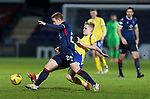 Ross County v St Johnstone…02.01.21   Global Energy Stadium     SPFL<br />Ali McCann tackles Harry Paton<br />Picture by Graeme Hart.<br />Copyright Perthshire Picture Agency<br />Tel: 01738 623350  Mobile: 07990 594431