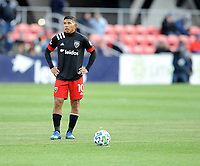 WASHINGTON, DC - FEBRUARY 29: Washington, D.C. - February 29, 2020: Edison Flores #10 of D.C. United during a game between D.C. United and Colorado Rapids. The Colorado Rapids defeated D.C. Untied 2-1 during their Major League Soccer (MLS)  match at Audi Field during a game between Colorado Rapids and D.C. United at Audi Field on February 29, 2020 in Washington, DC.