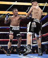 LAS VEGAS, NV - AUG 21: Carlos Castro vs Óscar Escandón on the Fox Sports PBC pay-per-view fight night at the T-Mobile Arena on August 21, 2021 in Las Vegas, Nevada (Photo by Scott Kirkland/Fox Sports/PictureGroup)