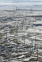 Wind towers near Limon, Colorado.  Feb 2014