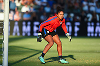 Carson, CA - Thursday August 03, 2017: Abby Smith prior to a 2017 Tournament of Nations match between the women's national teams of the United States (USA) and Japan (JPN) at the StubHub Center.