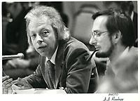 Pierre Marois et Yves Berube, le 6 janvier 1981<br /> <br /> PHOTO :  Agence Quebec Presse
