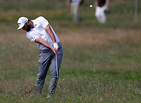 15th July 2021; Royal St Georges Golf Club, Sandwich, Kent, England; The Open Championship, PGA Tour, European Tour Golf, First Round ; Jon Rahm (ESP) plays out of the rough on the 2nd hole