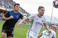 San Jose, CA - Friday January 01, 2016: Major League Soccer (MLS) match between the San Jose Earthquakes and the Portland Timbers  at Avaya Stadium.