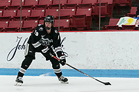 BOSTON, MA - JANUARY 11: Sara Hjalmarsson #19 of Providence College looks to pass during a game between Providence College and Boston University at Walter Brown Arena on January 11, 2020 in Boston, Massachusetts.