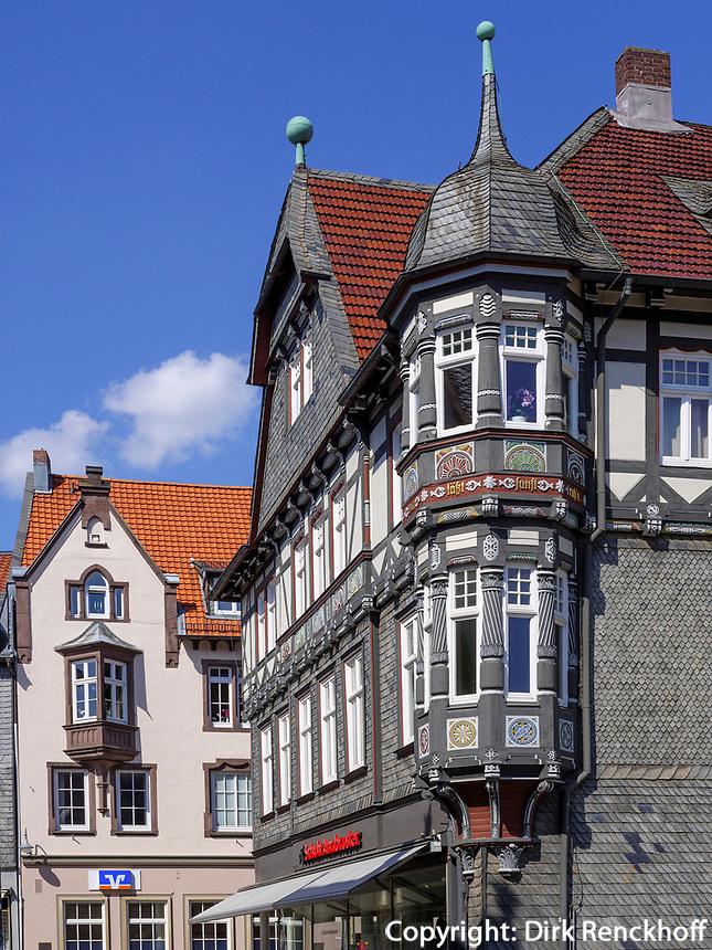 Fachwerkhaus Markt 12, Goslar, Niedersachsen, Deutschland, Europa, UNESCO-Weltkulturerbe<br /> Halftimbered House Markt 12, Goslar, Lower Saxony,, Germany, Europe, UNESCO Heritage Site