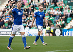 Hibs v St Johnstone…22.09.21  Easter Road.    SPFL<br />Jamie McCart makes his way forward for a corner<br />Picture by Graeme Hart.<br />Copyright Perthshire Picture Agency<br />Tel: 01738 623350  Mobile: 07990 594431