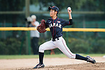#18 Imai Hana of Japan throwing during the BFA Women's Baseball Asian Cup match between South Korea and Japan at Sai Tso Wan Recreation Ground on September 2, 2017 in Hong Kong. Photo by Marcio Rodrigo Machado / Power Sport Images