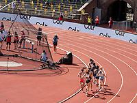4th July 2021; Stockholm Olympic Stadium, Stockholm, Sweden; Diamond League Grand Prix Athletics, Bauhaus Gala; Women's 1500m race as the group takes a bend