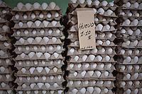 L'Avana, negozio con  uova in vendita libera<br /> Havana , shop with eggs in free sale
