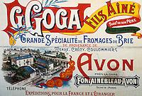 Europe/France/Ile-de-France/77/Seine-et-Marne/Saint-Cyr-sur-Morin: Musée des pays de Seine-et-Marne - Ancienne publicité pour le Brie