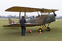 """13/03/15<br /> <br /> Chocks away!<br /> <br /> ***FULL STORY HERE:   http://www.fstoppress.com/articles/tiger-moth-restorations/    ****<br /> <br /> You may remember spending hours toiling over Airfix models, painstakingly following intricate instructions and trying not to glue your fingers together before painting your own miniature version of one of the RAF's or Luftwaffe's finest aircraft. Then spare a thought for one man who has just helped to restore and put together one World War Two Tiger Moth and is about to start piecing together another FOUR aircraft that were discovered in bits in a barn.<br /> <br /> Sixty-year-old Colin Temple-Smith – who wears a moustache that any Wing Commander would be proud of – has spent a lifetime restoring vintage cars and motorcycles and recently quit his job as a window fitter to help re-build the five bi-planes that will become part of a growing fleet of Tiger Moths at Derbyshire based Blue Eye Aviation.<br /> <br /> Today saw the first of the fully-restored five aircraft take to the skies.<br /> <br /> """"It's just like working on old bikes and cars, although they're a lot more fragile"""" explained Colin, whose wife runs the Aviators Café at Darley Moor Airfield near Ashbourne.<br /> <br /> """"When I was a teenager I used to be a member of a modelling club, making flying models from wood and canvas. They're very similar to build – it's really just the size that's changed with these.<br /> <br /> All Rights Reserved: F Stop Press Ltd. +44(0)1335 418629   www.fstoppress.com."""
