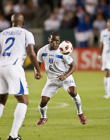 CARSON, CA – June 6, 2011: Honduras player Henry Thomas (6)  during the match between Guatemala and Honduras at the Home Depot Center in Carson, California. Final score Guatemala 0, Honduras 0.