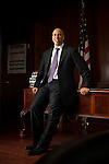 NEWARK -- MAY 19, 2011:  Newark Mayor Cory Booker  poses for a portrait in his office on May 19, 2011 in Newark, NJ.  (PHOTOGRAPH BY MICHAEL NAGLE)