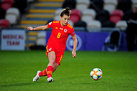 Angharad James of Wales Women's in action during the UEFA Women's EURO 2022 Qualifier match between Wales Women and Faroe Islands Women at Rodney Parade in Newport, Wales, UK. Thursday 22 October 2020