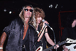 Vince Neil & Mick Mars of Motley Crue and Steve Plunkett of Autograph  at The Roxy in Hollywood Aug 1986.