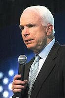 Senator John McCain, Republican of Arizona,as Presidential candidate in Exeter New Hampshire 3.12.08