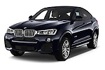 2015 BMW X4 M sportpakket 5 Door SUV 2WD Angular Front stock photos of front three quarter view
