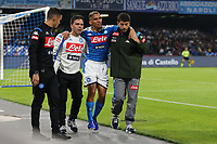 Allan of Napoli injury<br /> Napoli 30-10-2019 Stadio San Paolo <br /> Football Serie A 2019/2020 <br /> SSC Napoli - Atalanta BC<br /> Photo Cesare Purini / Insidefoto