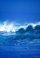 Wave breaking on Oahu's north shore