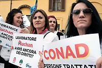 Lavoratrici e lavoratori  Auchan e Sma davanti Montecitorio