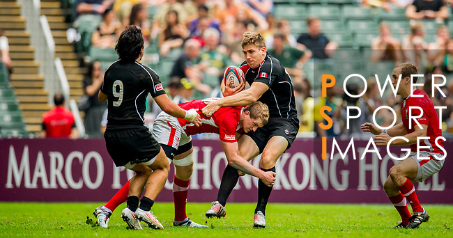 Canada play Wales in the Cup Quarter Final on Day 3 of the Cathay Pacific / HSBC Hong Kong Sevens 2013 on 24 March 2013 at Hong Kong Stadium, Hong Kong. Photo by Victor Fraile / The Power of Sport Images