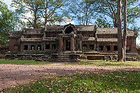 Cambodia, Angkor Wat.  Eastern Gate to the Temple Compound.