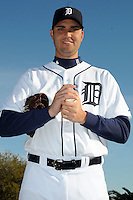 Feb 21, 2009; Lakeland, FL, USA; The Detroit Tigers pitcher Armando Galarraga (58) during photoday at Tigertown. Mandatory Credit: Tomasso De Rosa/ Four Seam Images