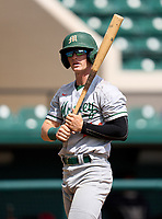 Mosley Dolphins Jaden  Rudd (24) bats during the 42nd Annual FACA All-Star Baseball Classic on June 5, 2021 at Joker Marchant Stadium in Lakeland, Florida.  (Mike Janes/Four Seam Images)