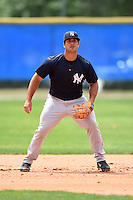 New York Yankees Mike Ford (66) during practice before a minor league spring training game against the Toronto Blue Jays on March 24, 2015 at the Englebert Complex in Dunedin, Florida.  (Mike Janes/Four Seam Images)