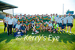 Injured Kerry footballer Seán O'Leary joins team-mates for a photograph after the Munster GAA Football Senior Championship Final match between Kerry and Cork at Fitzgerald Stadium in Killarney on Sunday.