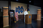 May 16, 2020; ROTC Virtual Commissioning Ceremony. (Photo by Barbara Johnston/University of Notre Dame)