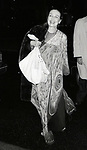 Patricia Morrison leaving Lincoln Center on March 1,1982 in New York City.
